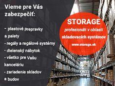 Za 20 rokov nášho pôsobenia už vieme, čo naši zákazníci potrebujú. Z našej ponuky si môžete vybrať: ➡️➡️ www.storage.sk ⬅️⬅️ ✅ plastové prepravky a palety ✅ regály a regálové systémy ✅ výbavu do Vášho skladu a budov ✅ všetko, čo potrebujete do Vašej kancelárie Storage, Purse Storage, Larger, Store