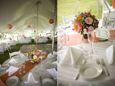 Nice table settings and in a tent like mine