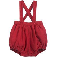 7bc69ddca75b Red Linen  Wattleseed  Baby Shorts
