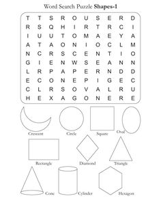 Word Search Puzzle Shapes 1