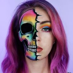 Here is the fun little look I whipped up while at the BH Cosmetics headquarters - Halloween - Makeup Creepy Halloween Makeup, Halloween Tags, Halloween Makeup Looks, Scary Makeup, Ghost Makeup, Halloween Party, Bh Cosmetics, Horror Make-up, Brown Matte Lipstick