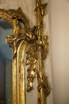 French Rococo Style Painted Mirror | From a unique collection of antique and modern wall mirrors at http://www.1stdibs.com/furniture/mirrors/wall-mirrors/