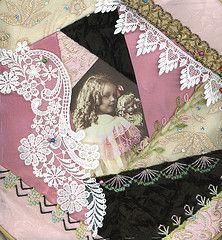 crazy quilting by Pamela Kellogg