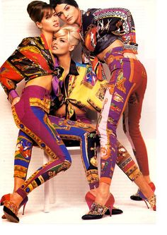 Versace, circa early 90s  Models: Christy Turlington, Linda Evangelista & Helena Christensen