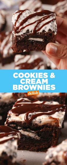 Brownie mix + Oreos + melted Cookies & Creme Hershey bars... simple yet special and perfect for all the Oreo lovers in my life!
