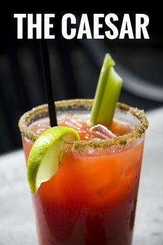 The Bloody Mary has seen a real renaissance in the past few years. A staple of the classic brunch, the Bloody Mary gained popularity as more and mo. Caesar Drink, Caesar Cocktail, Cocktail Drinks, Cocktail Recipes, Evening Cocktail, Drink Recipes, Alcoholic Drinks, Tea Drinks, Bourbon Drinks