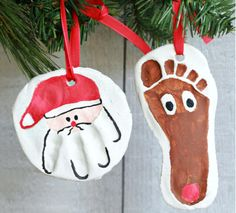 Diy gifts for christmas for grandparents salt dough Ideas Kids Crafts, Holiday Crafts For Kids, Christmas Crafts For Kids, Simple Christmas, Crafts To Make, Christmas Gifts, Christmas Ornaments, Festive Crafts, Christmas Child