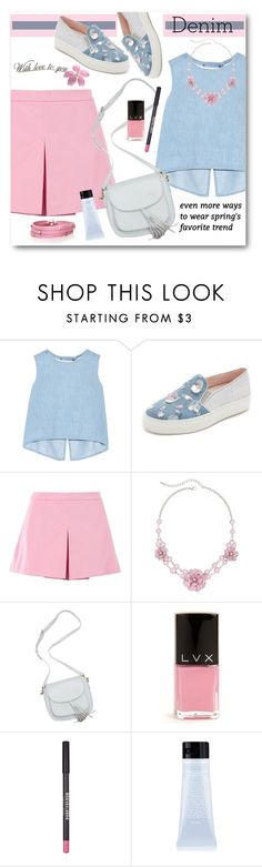 """""""Spring Denim"""" by brendariley-1 ❤ liked on Polyvore featuring Steve J & Yoni P, Minna Parikka, Love Moschino, Mixit, LVX, New Look and Sif Jakobs Jewellery"""
