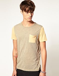 Enlarge ASOS T-Shirt With Contrast Pocket And Sleeves