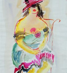 Original  Painting Watercolor on canvas  Woman paint by GoodsClass, $2500.00