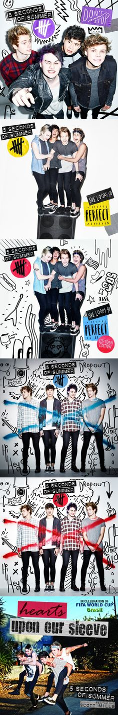5SOS!! I wuv this ❤️❤️! Calum doesn't look confused in the bottom one XD