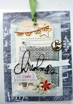 GLASSINE BAG - December Daily Mini Album Project Life Seiten von Anke Kramer für www.danipeuss.de   #DecemberDaily Christmas #ProjectLife