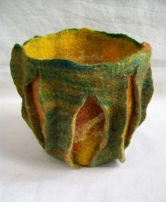 Sculptural vessel by zedster01, via Flickr  Loads of inspiration on experimental textiles group