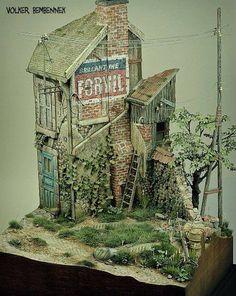 Diorama ... #Diorama #Miniature #Model #ScaleModel #Vignettes
