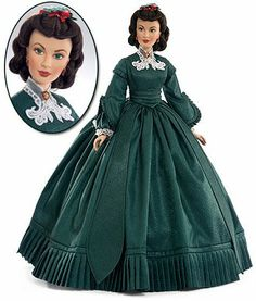 Gone with the Wind, Scarlett O'Hara Doll  I have this Franklin Mint beauty. Christmas Eve dress