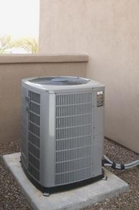 Air conditioning units freeze for a number of reasons. If the unit is too small for the area it's required to cool, the overworked coils will often freeze. Coolant leaks, debris buildup, and cold temperatures may also cause a unit to freeze. Air Conditioning Units, Heating And Air Conditioning, Heat And Air Units, New Home Construction, Central Heating, Heating Systems, The Unit, Patio Ideas, Outdoor Ideas