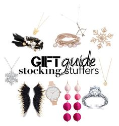 """Gift Guide:Stocking Stuffers"" by gabrielabaylon on Polyvore featuring Marjana von Berlepsch, Olivia Burton, John Lewis, Chloe + Isabel, Gorjana and Feathered Soul"