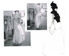 Fashion design dress development - fashion portfolio; fashion illustration; fashion sketchbook // Seena Shahmardi