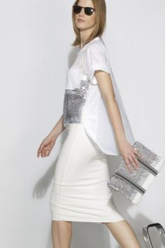 #aviu #ss14 #outfit  #skirt #tshirt #paillettes #sequins