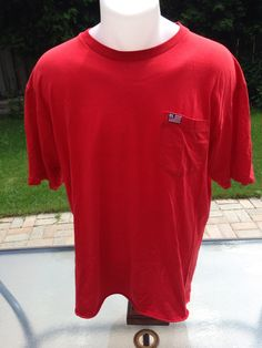 XL Red Polo Jeans Pocket Tee by MajorDivision on Etsy https://www.etsy.com/listing/223991064/xl-red-polo-jeans-pocket-tee