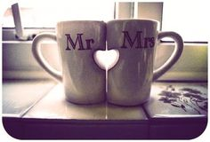 Adorable. I love these...but that would not be enough coffee for this Mr. & Mrs.!
