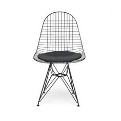 Black, White and Leather – Repro Eames DKR Wire Side chair black £79 free delivery