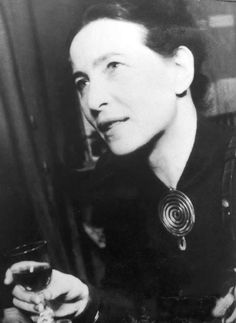 """""""I tore myself away from the safe comfort of certainties through my love for the truth; and truth rewarded me."""" ~  Simone de Beauvoir, Paris. (photo, 1955)."""