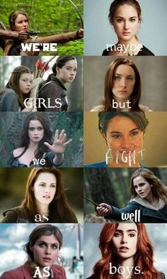 Find images and videos about book, harry potter and the hunger games on We Heart It - the app to get lost in what you love. Girl Power Quotes, Girl Quotes, Woman Quotes, Funny Girl Movie, Funny Girls, Divergent Memes, Citations Film, Fandom Quotes, Harry Potter Jokes