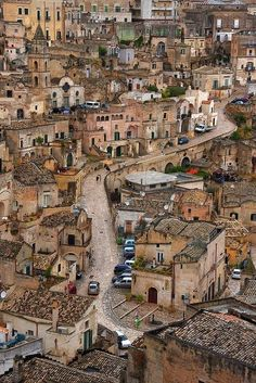 Strada tra i Sassi, Matera, Italy wonderful Basilicata Places Around The World, Travel Around The World, Around The Worlds, Places To Travel, Places To See, Voyage Europe, Southern Italy, Dream Vacations, Italy Travel