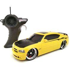 Maisto 1:24 Remote Control 2006 Bright Yellow Dodge Charger SRT8 Eye Catching  #Maisto
