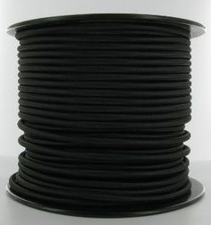 18/3 ROUND BLACK RAYON BRAIDED CLOTH COVERED PENDANT WIRE WITH THREE CONDUCTORS SOLD BY THE FOOT OR ON A 250FT. ROLL. (This is an Antique Replica Wire and is not U.L. Rated) Fits through 1/8 IPS nipple.