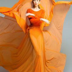 orange in fashion photography