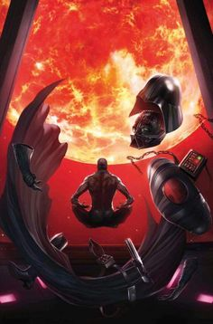 Vader meditates to the point that he heals himself with The Force. It was revealed in the novels that Palpatine placed elements into Vader's armor that would prevent Vader from being able to heal himself so that Vader would always be his puppet.