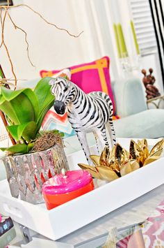 Zebra Palm Beach Chic