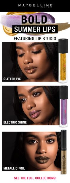 Explore Lip Makeup by Maybelline. Discover your new favorite lip makeup shades from bold to nude in Lipstick, Lip Gloss, Lip Balm and Lip Liner. Pink Lip Gloss, Pink Lips, Lipstick Guide, Liquid Lipstick, Holographic Lips, Burgundy Lips, Expensive Makeup, African American Makeup, Summer Makeup Looks