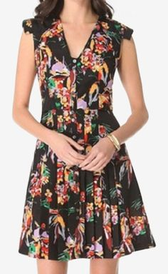 10 Crosby Derek Lam Black, Floral Dress