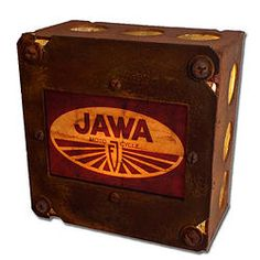 Retro Jawa Motorcycle Logo Night Light