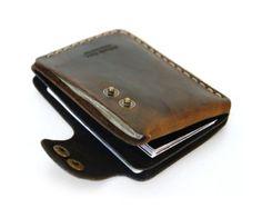 Leder Brieftasche in gewachst braun von AtelierPall Männer