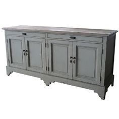 Credenza for foyer. Keep scarves, gloves, and other winter garb tucked away. Another color. Green maybe?