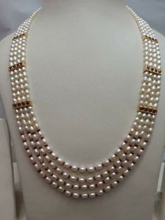 Pearl Necklace Designs, Jewelry Design Earrings, Gold Jewellery Design, Bead Jewellery, Pearl Jewelry, Beaded Jewelry, Jewelery, Jewelry Patterns, Creations