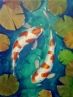 How to paint koi fish and lily pads do it yourself today for Milky koi fish