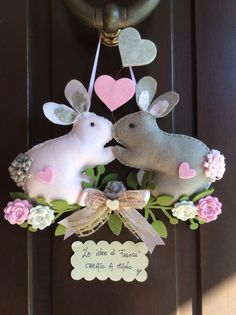 ♥ ~ ♥ Spring into Easter ♥ ~ ♥ Hobbies And Crafts, Diy And Crafts, Crafts For Kids, Felt Crafts, Easter Crafts, Spring Crafts, Holiday Crafts, Rabbit Crafts, Diy Ostern