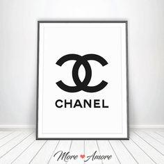 Chanel Logo Wall Decor Art Print - Fashion / Chanel / vanity decor / makeup decor / art print / chanel print / afflink