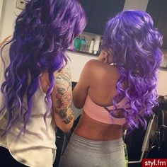 I've always wanted to get my hair done in a beautiful shade of purple