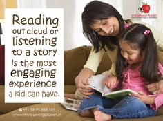"""#Reading aloud or listening to a story being told is one of the most """"cerebrally"""" engaging experiences a #kid can have. Watching TV for 15,000 hours only generates about 30 minutes of brain #Activity. However, with reading aloud, it fires up children's brains because they have to use their imagination. This activity stimulates the electricity in the brain, promoting brain development by strengthening brain pathways. Visit www.mylearningplanet.in or call 9899888185"""
