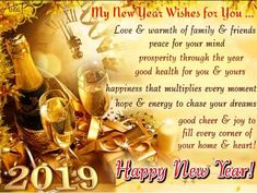 Golden New year wishes/ greetings/ ecard #golden #newyear #2019 #newyearwishes #newyearfreegreetings #newyearecard