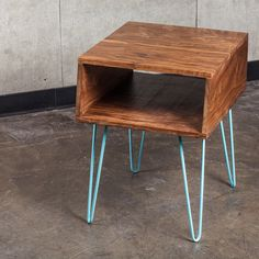 Fab.com | Side Table 5' Walnut Teal