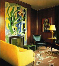 Nelson Rockefeller's New York apartment by Jean-Michel Frank Photo via Henri Matisse, Nelson Rockefeller, Interior Inspiration, Design Inspiration, Small Apartment Design, Interior Decorating, Interior Design, Interior Colors, Decorating Ideas