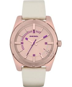 DIESEL Analogue Beige Leather Strap Η τιμή μας: 153€ http://www.oroloi.gr/product_info.php?products_id=34764