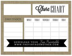 chore chart template Free Printable Chore Charts for Kids Free Printable Chore Charts, Chore Chart Template, Chore Chart Kids, Free Printables, Cool Mom Picks, Charts For Kids, Behaviour Chart, Getting Organized, Teaching Kids